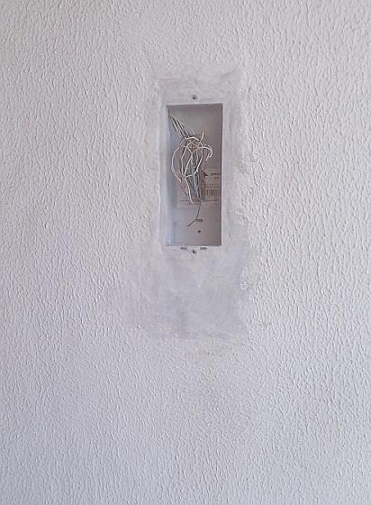 εγκατασταση μπουτονιέρας - βαφή τοίχου